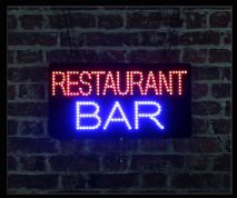 Restaurant Bar LED Sign